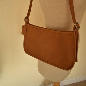 Vintage Coach Brown Leather Aubrey Shoulder Bag